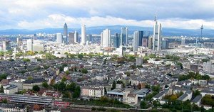 Frankfurt with its skyscrapers