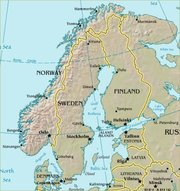 Map of Scandinavia and