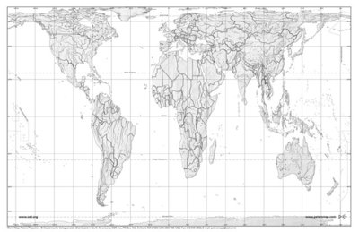 Gall Peters Projection World Map.Gall Peters Projection Academic Kids