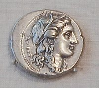 Coin, a silver tetradrachm minted by  about 310 - 305 BC