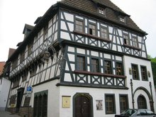 "The ""Luther house"" where Luther boarded from ages 14 to 17 while attending private school at ."