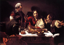 Supper at Emmaus, painted 1601.