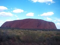 Uluru, purple in the afternoon