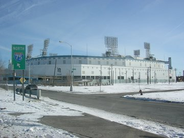 An empty Tiger Stadium in January 2005