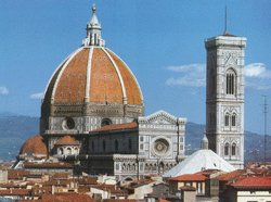 The  church of , . Florence was the capital of the Renaissance