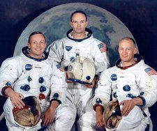 Apollo 11 crew portrait (L-R: Armstrong, Collins, and Aldrin)