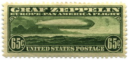 "65-cent ""Zeppelin"" of 1930, issued in April for the May-June Pan-American flight of the"