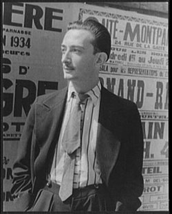 Salvador Dal� as photographed in 1934 by
