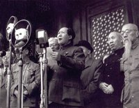 New China is born: Mao Zedong proclaims the founding of the People's Republic of China on October 1, 1949.