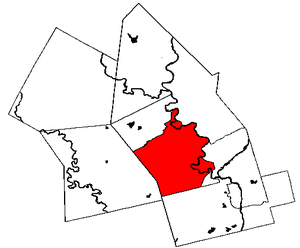 Map of  with Kitchener in red.