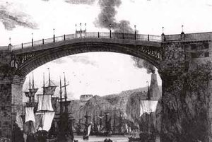 The first Wearmouth Bridge