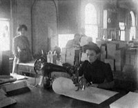 Turn of the century sewing in Detroit, Michigan