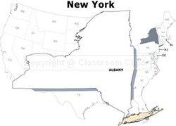 New York State Map  Academic Kids