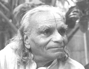 A photograph of B.K.S. Iyengar
