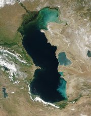 Caspian Sea viewed from orbit