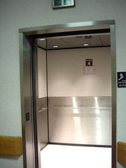 Elevator in a hospital