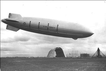 U.S. Navy Zeppelin  over Moffett Field in