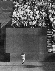 : Willie Mays makes a brilliant running catch of Vic Wertz's drive, ,