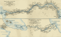 1888 German map of the Panama Canal