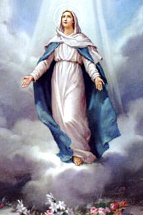 The Assumption of the Blessed Virgin Mary into HeavenCatholic dogma proclaimed under papal infallibility by  in 1950