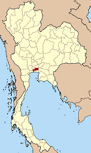 Map of Thailand highlighting Bangkok
