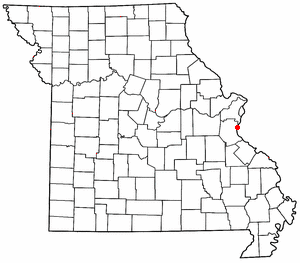 Location of Imperial, Missouri