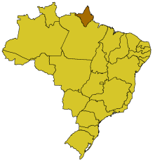 Map of Brazil highlighting the state