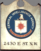 Original sign with seal from the CIA's first building on E Street in Washington, DC