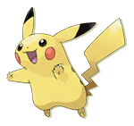 Pikachu, numbered 25 in the national , is probably the most well-known Pokémon.