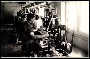 Folding machines in operation at Chr. Bjelland & Co. AS in Stavanger, Norway, 1905