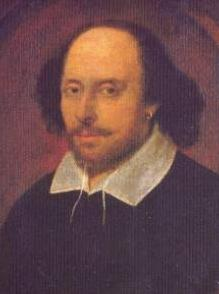 William Shakespeare (), in the famous , artist and authenticity unconfirmed.