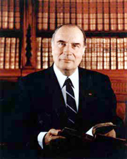 French President François Mitterrand, an example of a head of state in a semi-presidential system