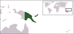 Location of Papua New Guinea