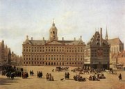 Dam Square in the late 17th century: painting by Jan Adriaensz. Berckheyde (Gem�ldegalerie, Dresden)