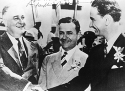 FDR, Gov. Allred of Texas & LBJ