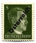 "1945 overprint on """" of Germany"