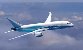 "The Boeing 787 ""Dreamliner"" is the company's newest commercial aircraft design."
