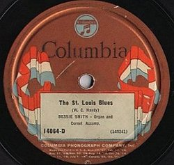 Label of a Columbia disc from