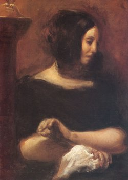 George Sand, portrayed by