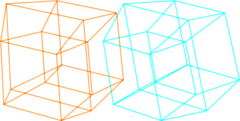 A , a cube in 3 dimensions extended to a fourth, as a description of time; adhering to defined finite bounds, all possibilities for this configuration are conceptually representable.