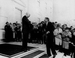 Eisenhower and President-elect John F. Kennedy, December, 1960.