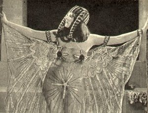 Theda Bara portrayed , in a costume of dubious historical accuracy.