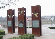 A monument of the Schengen Treaty in Schengen