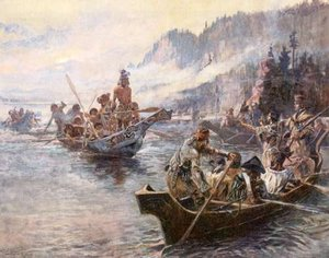 Lewis and Clark on the Lower Columbia by C.M. Russell
