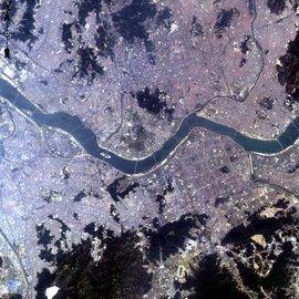 Satellite image of Seoul