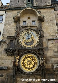 Clock Tower, Prague. Image provided by Classroom Clip Art (http://classroomclipart.com)