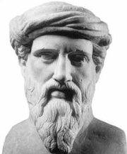Pythagoras as portrayed on   from