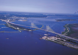 The Fred Hartman Bridge connects Baytown and La Porte.