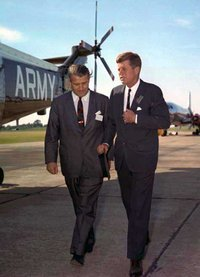 Development director von Braun showed  around the  in 1963.
